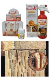 Tratamiento contra las termitas y contra la carcoma de la madera