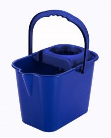 Cubo semiovalado escurridor azul 5L