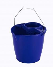 Cubo redondo escurridor azul 13 litros.