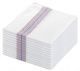 Paños listas blanco 48x40 cms.